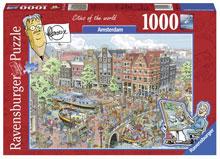 Amsterdam Legpuzzels Fleroux City of the World Amsterdam