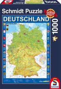 Legpuzzel Duitsland Landkaart Puzzel