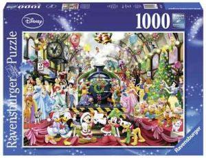 Disney Puzzel Kerst op het Station Legpuzzel Kerstmis