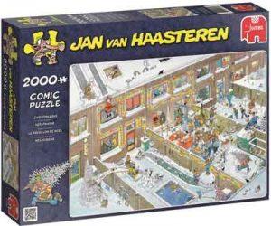 Jan van Haasteren Kerst Puzzel Kerstavond 2000 Stukjes