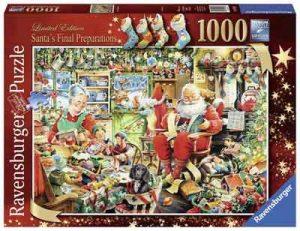 Puzzel Kerstman Santa's Final Preparations Kerst Puzzels