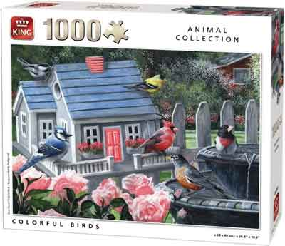 Vogel Puzzel Colorful Birds