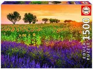 Legpuzzel Zonnebloemen en Lavendel