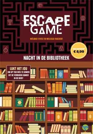 Nacht in de bibliotheek Escape Game puzzelboek van Mélanie Vives en Melissa Vaucher